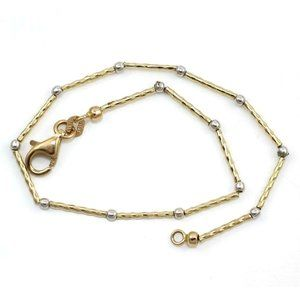 14K Yellow Gold Bead Chain Bracelet 7.5″
